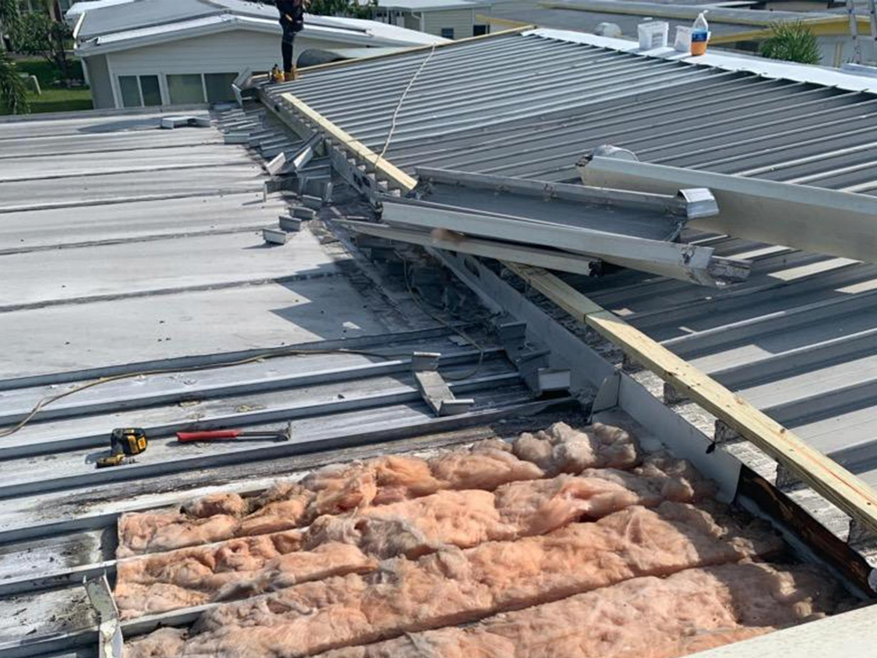 Mobile Home Roof Over In Largo Fl Community Roofing Of Florida Inc