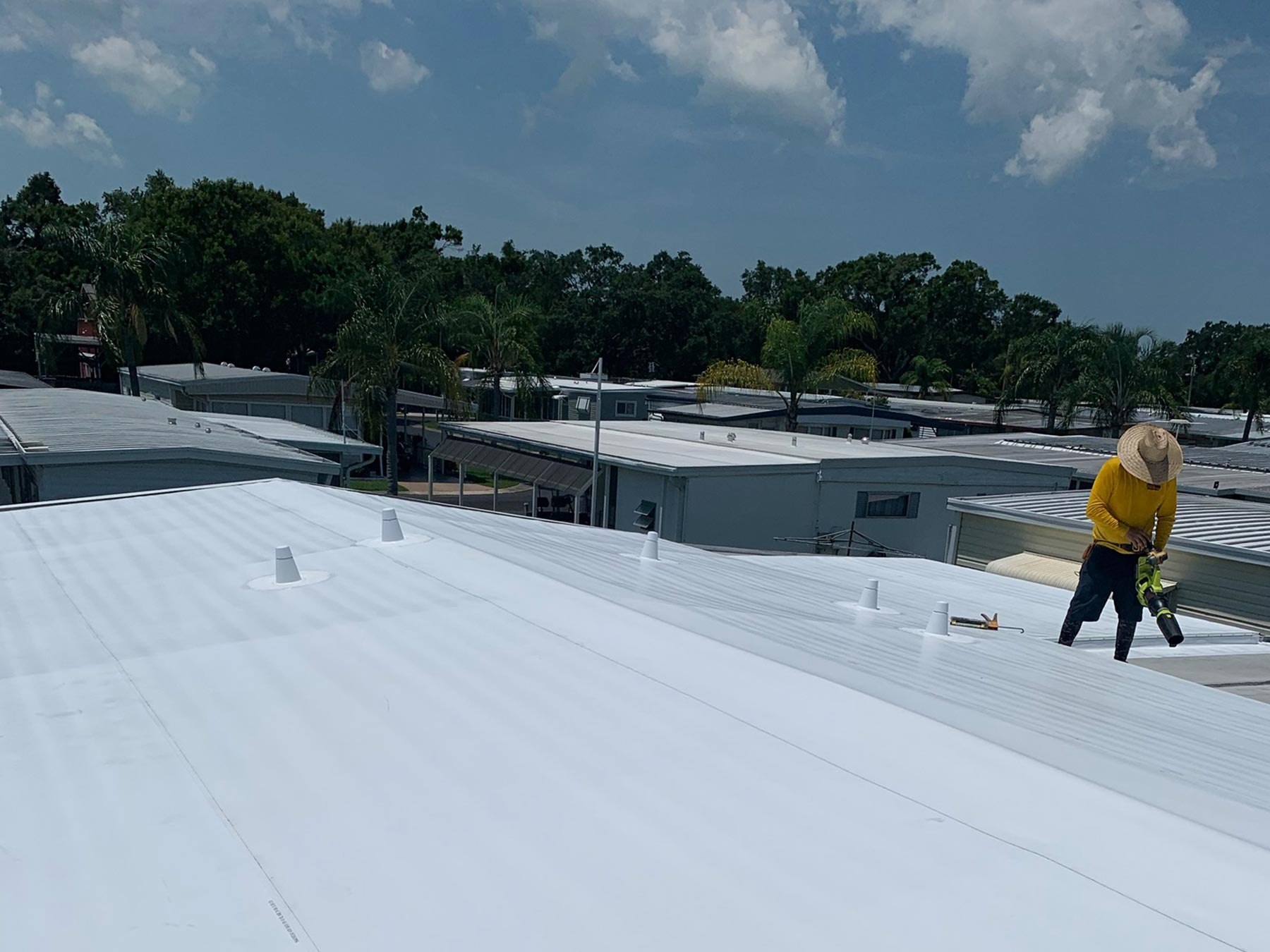 Mobile Home Roof Over in Largo, FL | Community Roofing of ... on mobile home construction, mobile home decks, mobile home room additions florida, mobile home roofing costs, mobile home metal roofing materials,
