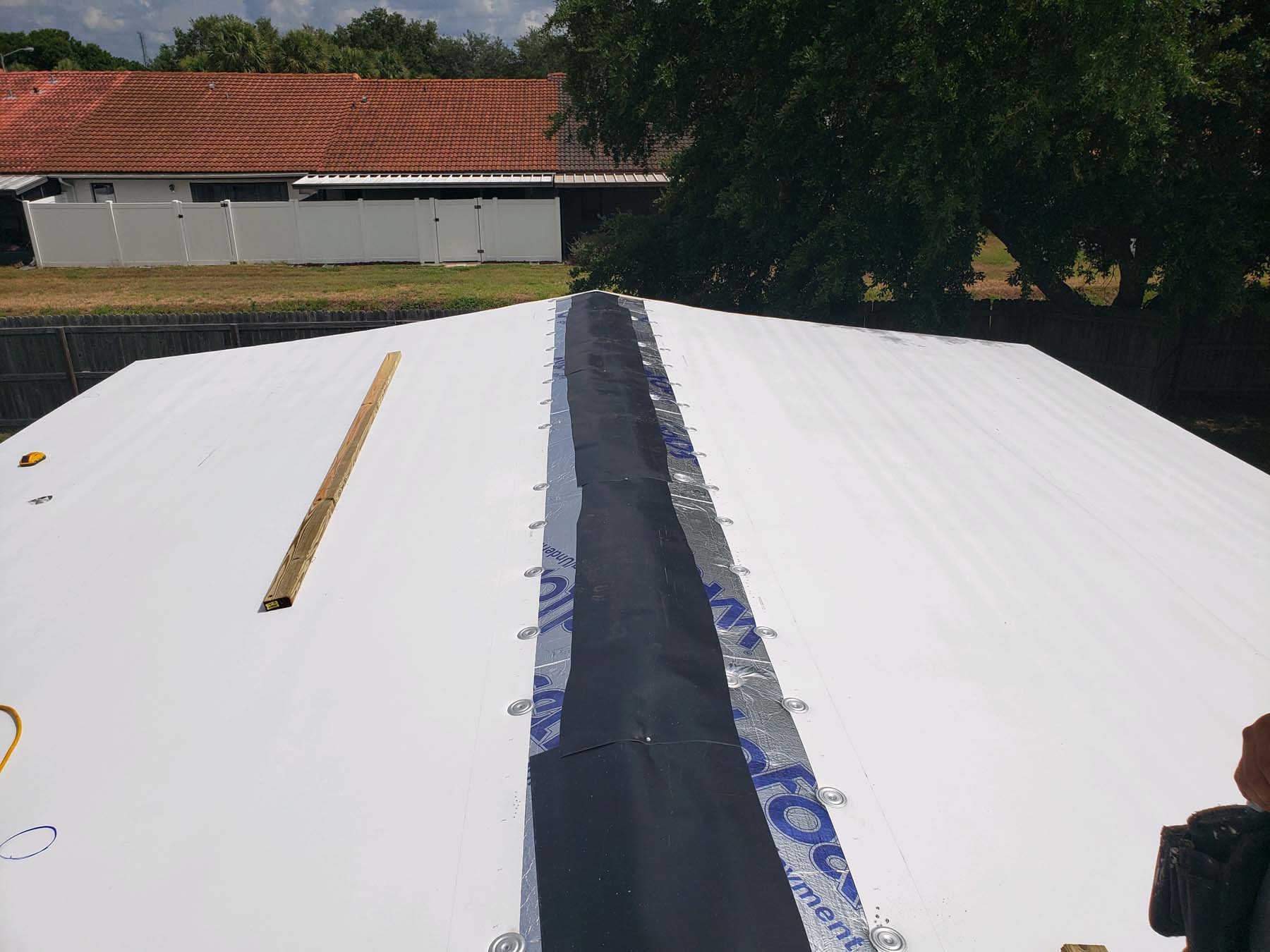 Manufactured Home Roof Over In Largo Fl Ranchero Village