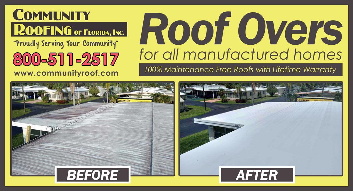 Manufactured Home Roof Replacement, North Fort Myers